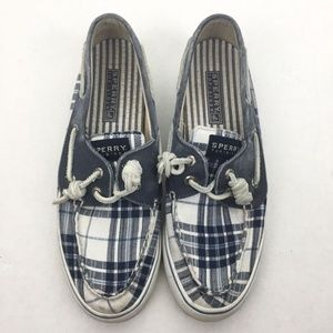 🌹Sperry Size 6.5 Check Slip On Boat Shoes